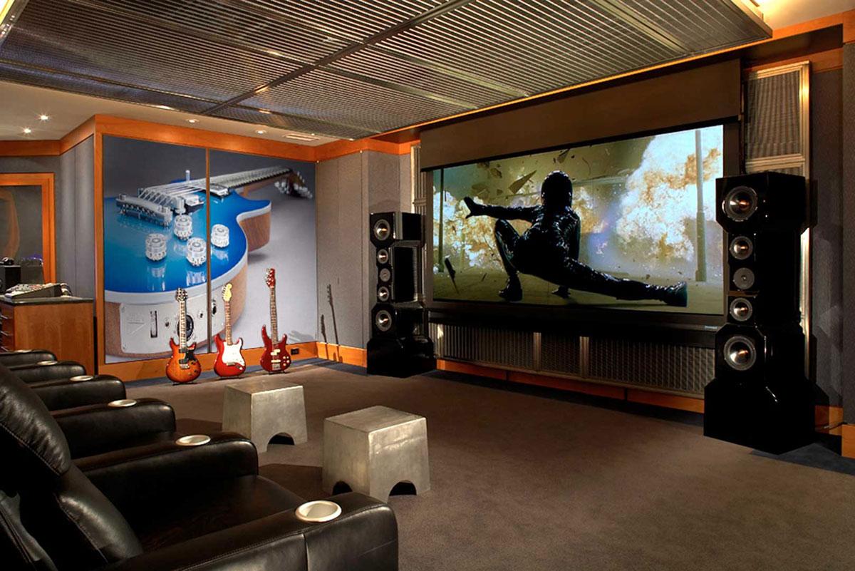 Home Cinema De Luxe. Four Bedroom House Plan Delux Four Bedroom ...